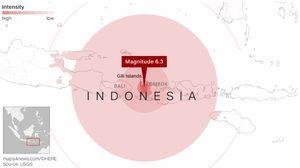 เกิดเหตุแผ่นดินไหวซ้ำเกาะลอมบอก6.9แมกนิจูด