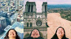 สาวถ่ายภาพ โชว์คางสองชั้น เที่ยวทั่วโลก คนกดติดตามครึ่งแสน