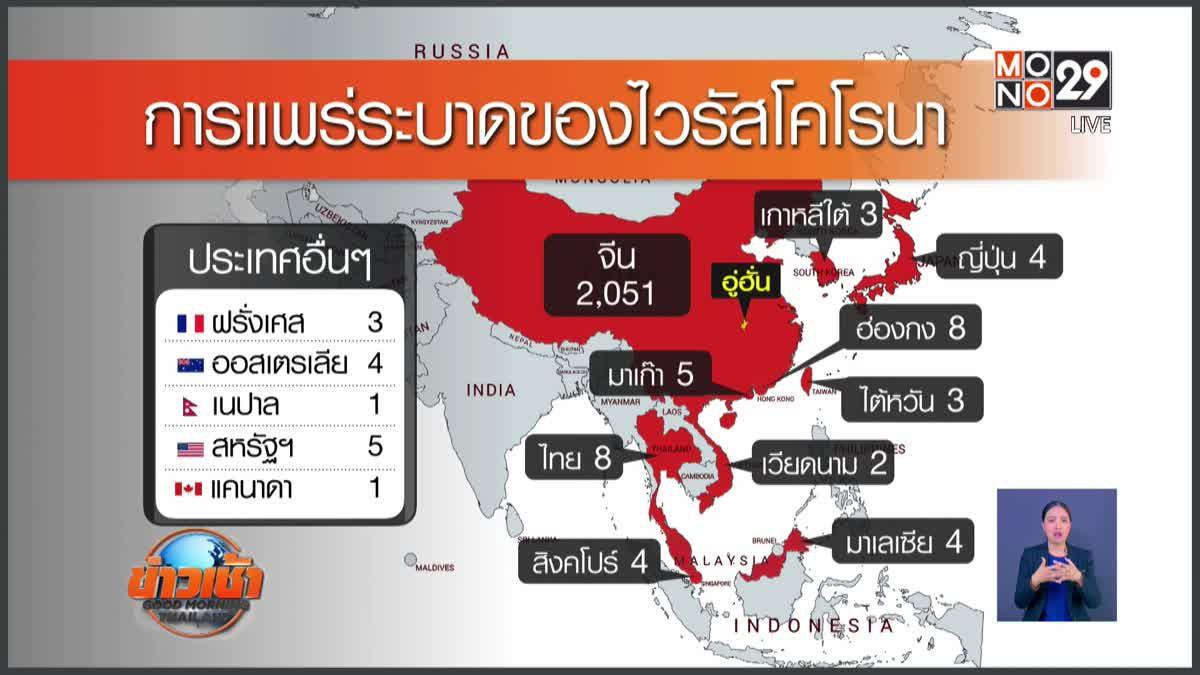 ยอดผู้ติดเชื้อไวรัสโคโรนาทั่วโลกทะลุ 2,000 ราย