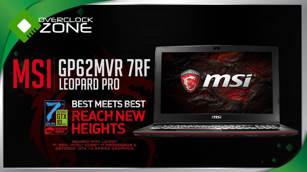 รีวิว MSI GP62MVR 7RF - Leopard Pro : GTX1060 ราคาจับต้องได้