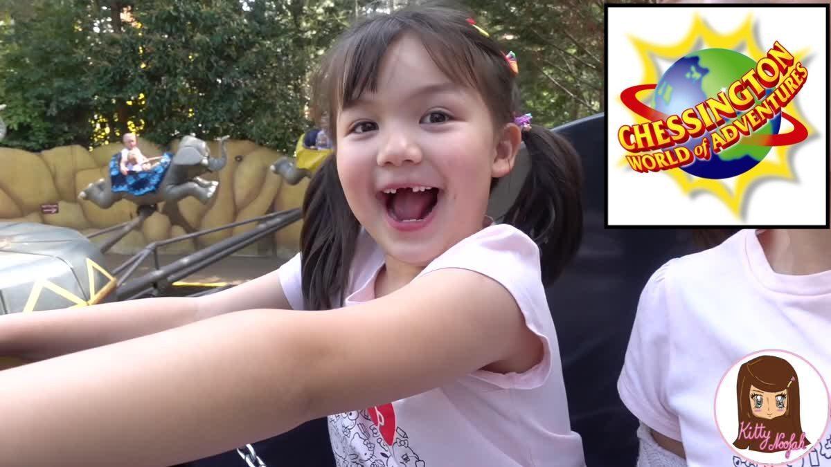 ดูสัตว์ เล่นเครื่องเล่น ฟินกำลัง2 กับน้องโซเฟีย ที่สวนสนุกChessington World of Adventure ในอังกฤษ
