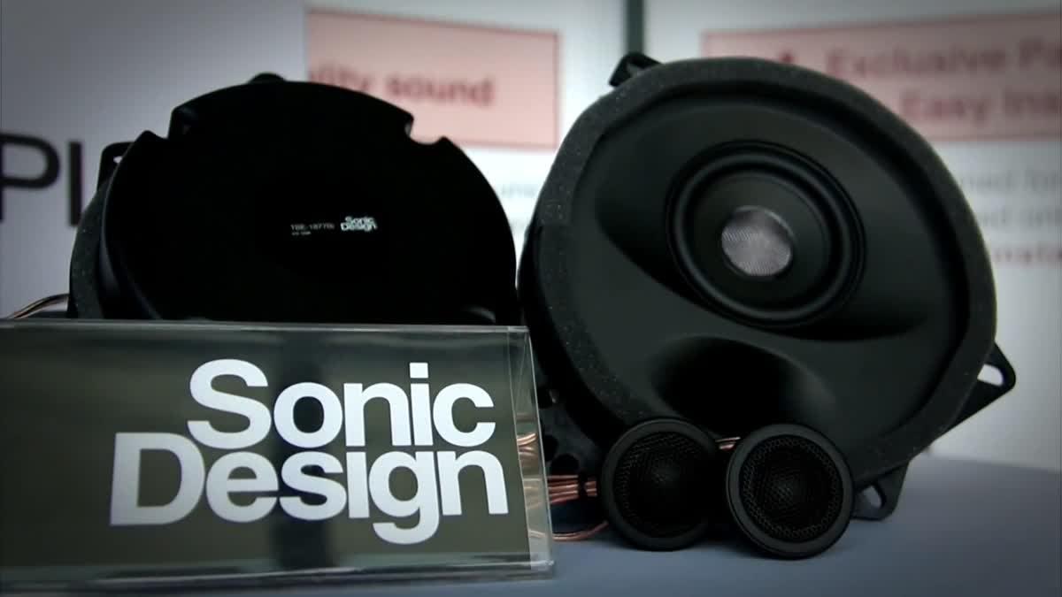 โซนิค ดีไซน์ (Sonic Design) ลำโพงใส่ได้กับช่องลำโพงเดิมของรถทุกรุ่น