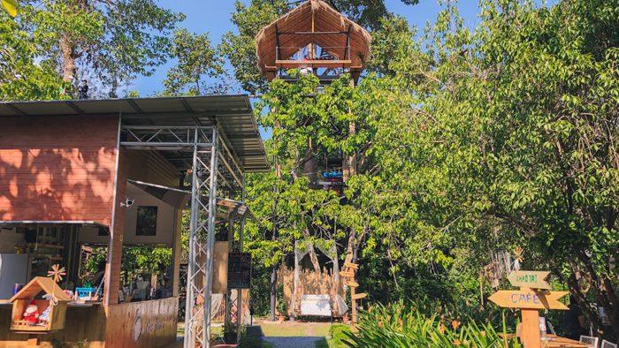 On the Tree คาเฟ่ในสวน จิบกาแฟชิลล์ๆ โหนสลิง ชมวิวบนต้นไม้สูง