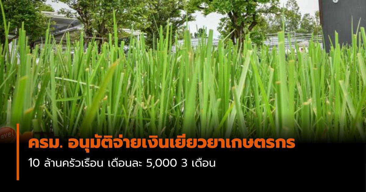 ครม. อนุมัติจ่ายเงินเยียวยา 5 พันให้เกษตรกร 10 ล้านครัวเรือน