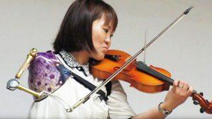 สาวญี่ปุ่นพิการแขน หัวใจนักดนตรี โชว์เดี่ยวไวโอลินเพราะจับใจ สร้างแรงบันดาลใจคนทั่วโลก