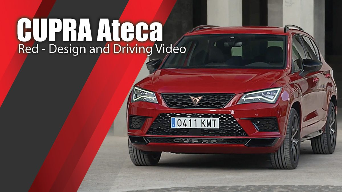 The new CUPRA Ateca in Red Design and Driving Video