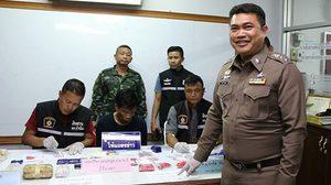 ตำรวจล้วงคอห่าน หายาบ้านับหมื่นเม็ด หลังผู้ต้องหาโยนทิ้งเลี่ยงการจับกุม