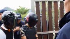ตำรวจคุมผู้ต้องหาทำแผน คดีนักธุรกิจถูกสังหาร ปี 58