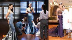 พระองค์หญิงสิริวัณณวรีฯ ทรงประทาน ชุดผ้าไหมไทยให้ นิ้ง และเดมี่ ใส่คืน Thai Night