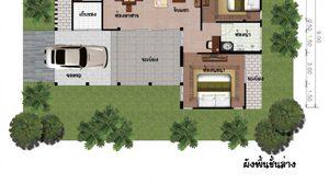 10 แบบบ้านชั้นเดียว แบบบ้านสวยๆ พร้อมราคาก่อสร้าง