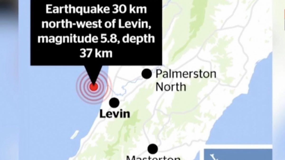 แผ่นดินไหวขนาด 5.8 เขย่านิวซีแลนด์