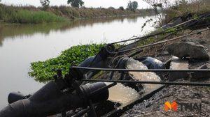 ชาวนาริมคลองมะขามเฒ่า-อู่ทอง เร่งสูบน้ำ หลังส่อแววแล้งมาเร็ว