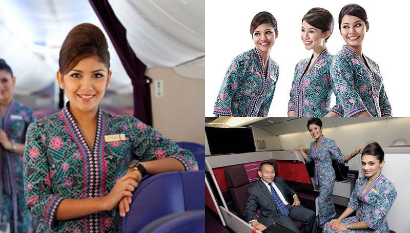 ชุดยูนิฟอร์ม พนักงานต้อนรับบนเครื่องบิน Malaysia Airlines
