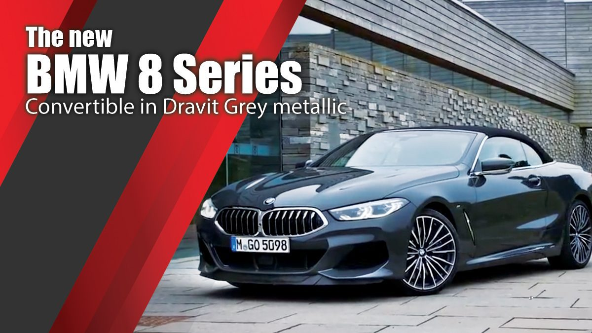 The new BMW 8 Series Convertible in Dravit Grey metallic