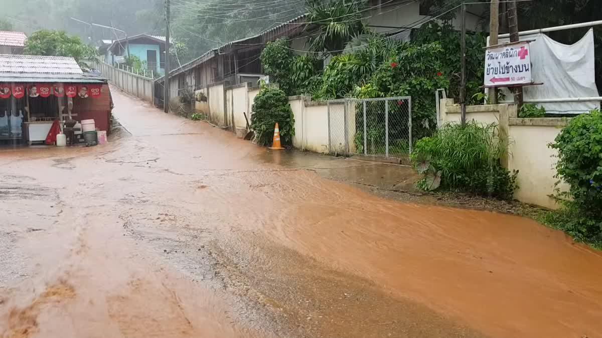 จับตา!! 4 อำเภอในเชียงใหม่ เสี่ยงดินถล่มหลังพบฝนสะสมดินเริ่มอุ้มน้ำ