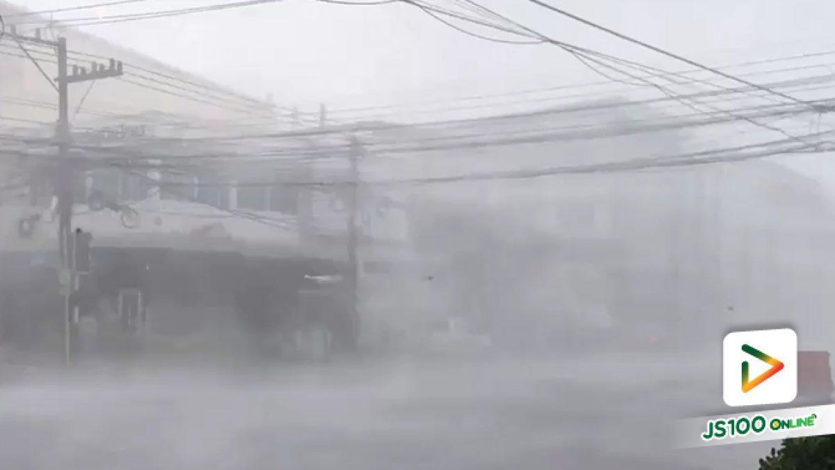 พายุฝนพัดถล่ม อ.เมือง จ.นครพนม บ้านเรือนเสียหายหลายจุด (15-05-61)