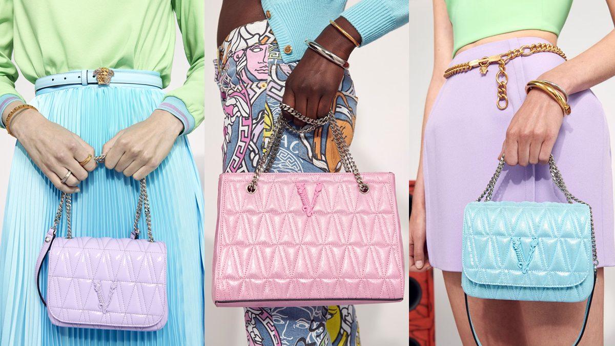 โซคิวท์ กระเป๋าสีพาสเทลจาก Versace รุ่น Virtus คอลเลคชั่น Flash21