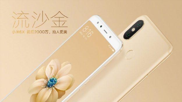 Xiaomi Mi 6X เปิดตัวแล้ว มาพร้อมกล้องคู่พลัง AI จาก Sony ใช้ CPU Snap 660