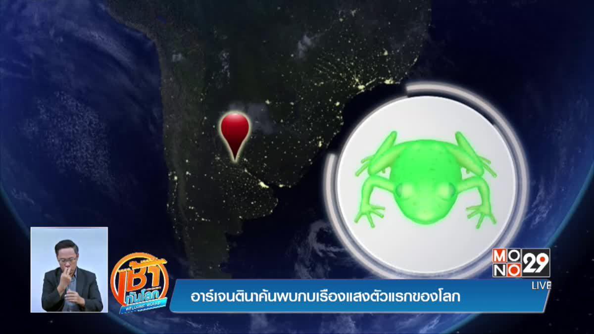 อาร์เจนตินาค้นพบกบเรืองแสงตัวแรกของโลก