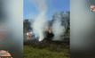 ไฟไหม้รถบรรทุกเคมีภัณฑ์ เสียหายกว่า 3 ล้านบาท