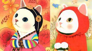 ภาพการ์ตูนแมวน่ารักสีขาวจากศิลปินชาวเกาหลี Jetoy.co.k