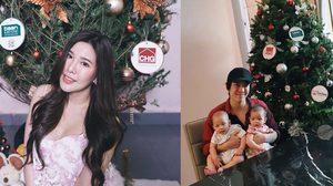 เซเลบ-คนดัง ร่วมสัมผัส ต้นคริสต์มาสจริง ส่งตรงจากแคนาดา