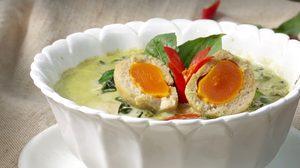 สูตร แกงเขียวหวานลูกชิ้นปลากรายไข่เค็ม เมนูไทยๆ หวานมัน