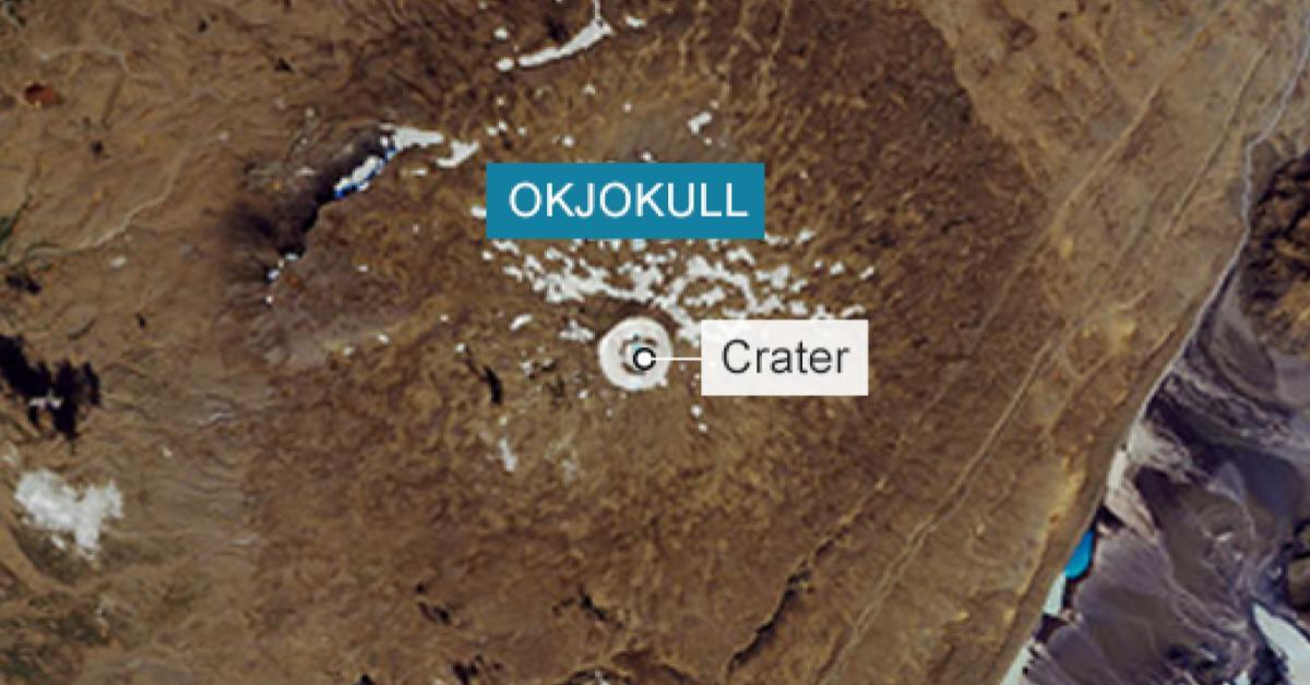 """ละลายหมดแล้ว ! ธารน้ำแข็ง """"โอคโยคุลล์"""" ในไอซ์แลนด์อายุ 700 ปี"""