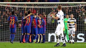 ผลบอล: ยิงกู้ศรัทธา!! ตูราน ซัดแฮตทริกพา บาร์เซโลน่า ไล่ยำ กลัดบัค 4-0 ชปล.กลุ่มC