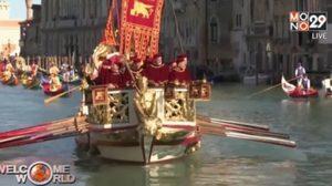 แข่งพายเรือประเพณีในเวนิส ประเทศอิตาลี