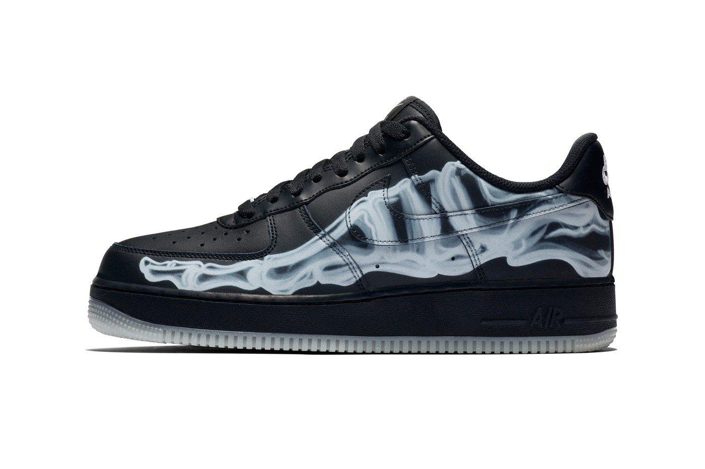 Nike Air Force 1 Black Skeleton