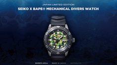 Seiko ร่วมมือกับ BAPE ปล่อยนาฬิกาดำน้ำ วางจำหน่ายวันที่ 9 กุมภาพันธ์นี้