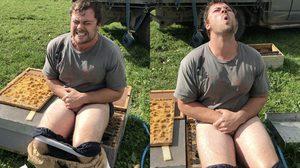 หนุ่มนิวซีแลนด์ ตอบรับคำท้า ถ้านั่งไปบน รังผึ้ง ได้นาน 30 วินาที รับเงินไปเลย 24,000 บาท