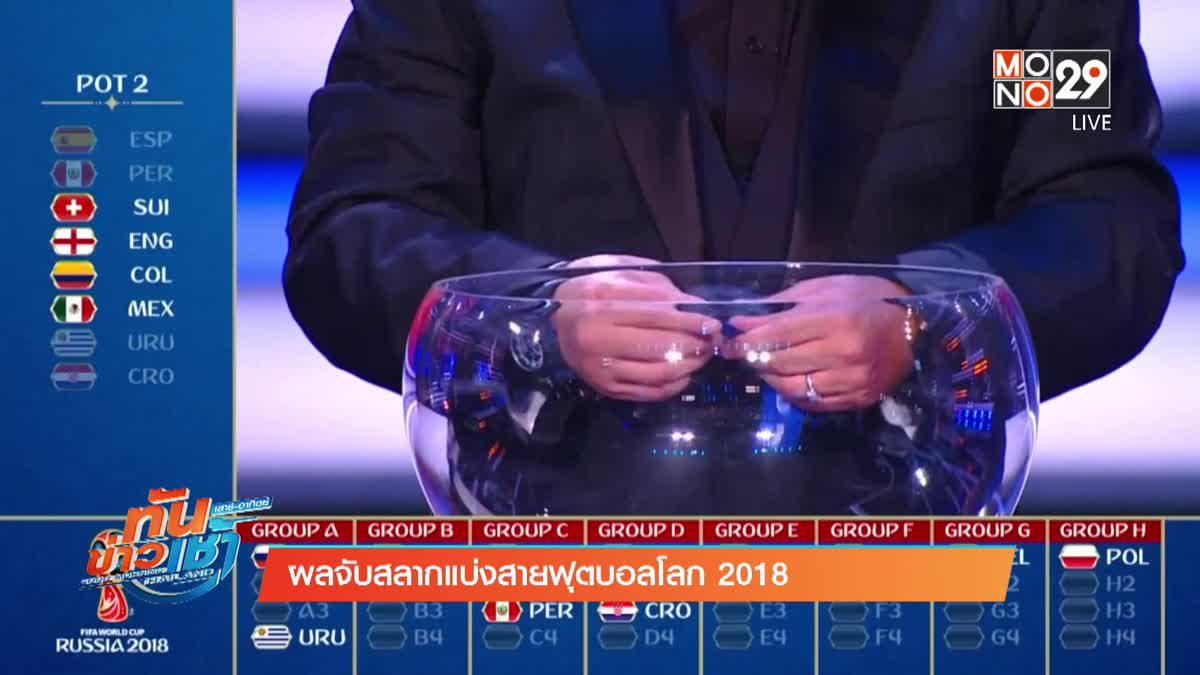ผลจับสลากแบ่งสายฟุตบอลโลก 2018