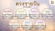ดูดวงรายวัน ประจำวันอังคารที่ 4 ธันวาคม 2561 โดย อ.คฑา ชินบัญชร