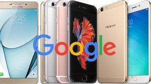 Google ประเทศไทยเผยรายชื่อสมาร์ทโฟนที่ถูกค้นหามากที่สุดในปี 2016