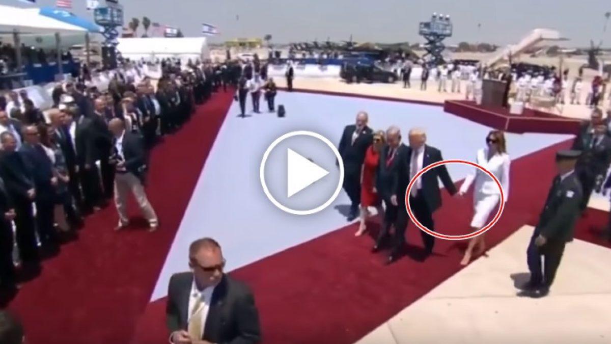 ยอดวิวถล่ม! นาที  โดนัลด์ ทรัมป์ ประธานาธิบดีสหรัฐฯ โดนภรรยาปัดจับมือ