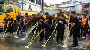 กทม. จัด Big Cleaning ถนนข้าวสาร