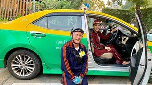 คนแห่ถามหาทะเบียน แท็กซี่พระที่นั่ง ทูลกระหม่อมหญิงประทับ โพสต์ผ่านอินสตาแกรม