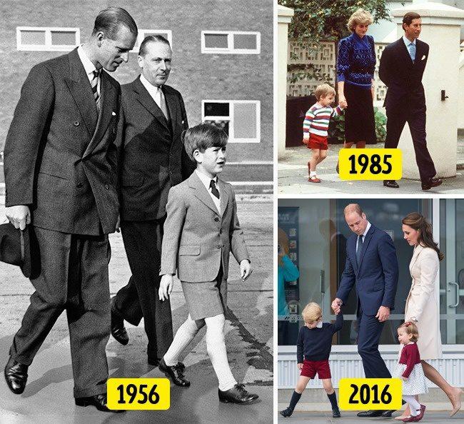 ในวัยเยาว์เจ้าชายต้องสวมกางเกงขาสั้น