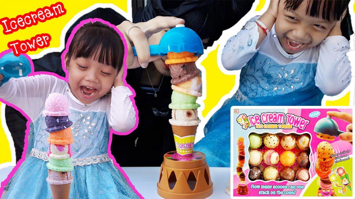 เอลซ่าเล่นเกมส์แข่งวางไอศกรีมกับมาเลฟิเซนต์