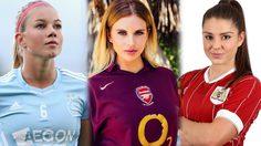 รวม 10 นักบอลหญิง ทั่วทุกมุมโลก สวย เซ็กซี่ เห็นแล้วอยากไปเตะบอล!!