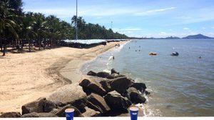 ภาพบางแสน สวยใสในวันไร้ขยะ ด้าน 'นายกฯ ตุ้ย' ชวนคนไทยร่วมรักษ์หาดทราย