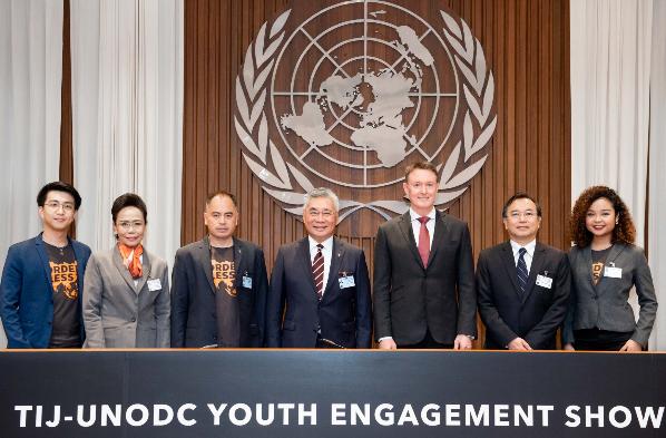 """เยาวชนนานาชาตินำเสนอผลงานจาก """"เยาวชนไร้พรมแดน"""" ที่ UNESCAP    เมื่อเยาวชนแสดงจุดยืน โลกต้องตั้งใจฟัง"""