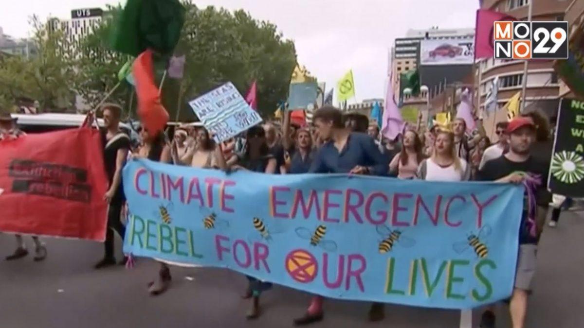 นักเคลื่อนไหวประท้วงประเด็นโลกร้อนทั่วโลก