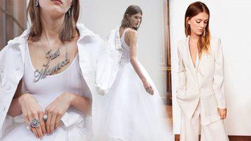 ชุดแต่งงาน สไตล์บอยๆ เอาใจสาวเท่ จากแบรนด์ Oscar De La Renta