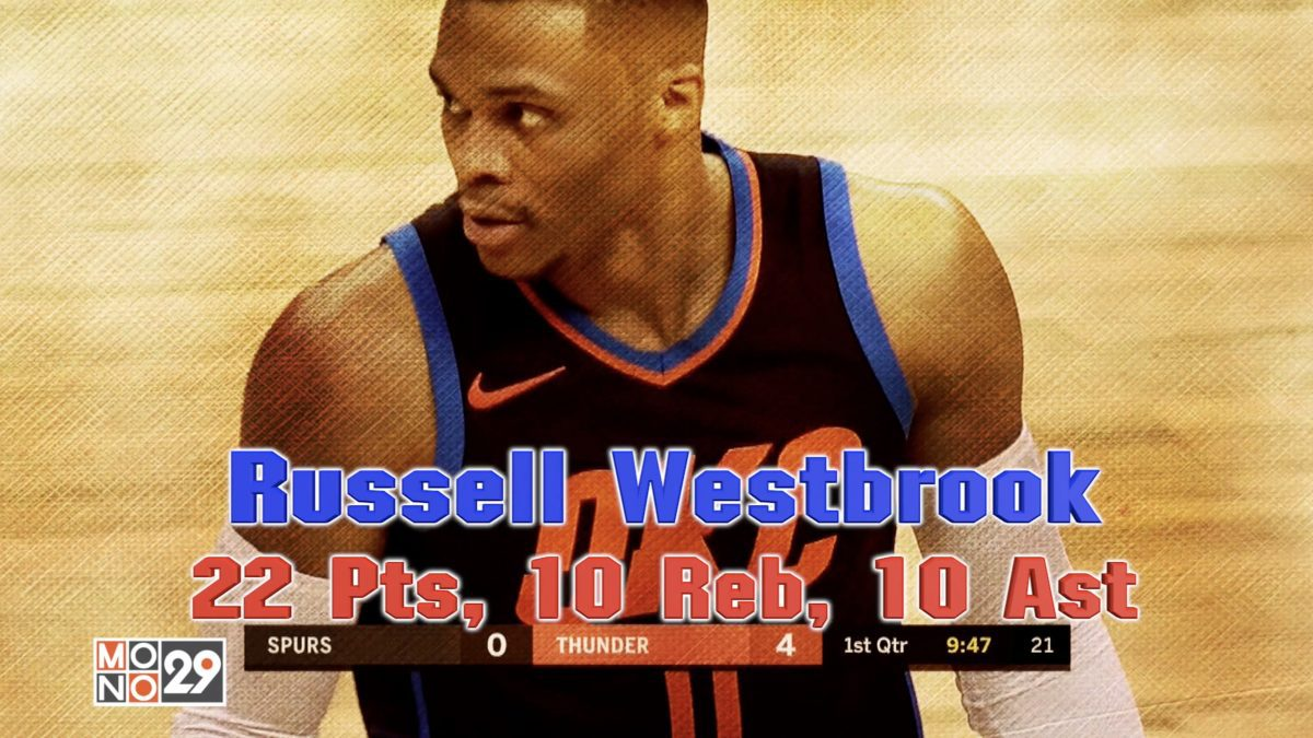 Russell Westbrook 22 Pts, 10 Reb, 10 Ast