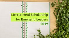 ทุนการศึกษา Mercer Mettl Scholarship for Emerging Leaders 2019