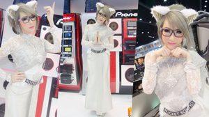 นิกกี้ พริตตี้เงินล้าน ใส่ชุดไทยในงานมอเตอร์ เอ็กซ์โป 2016 สวยงามตามท้องเรื่อง