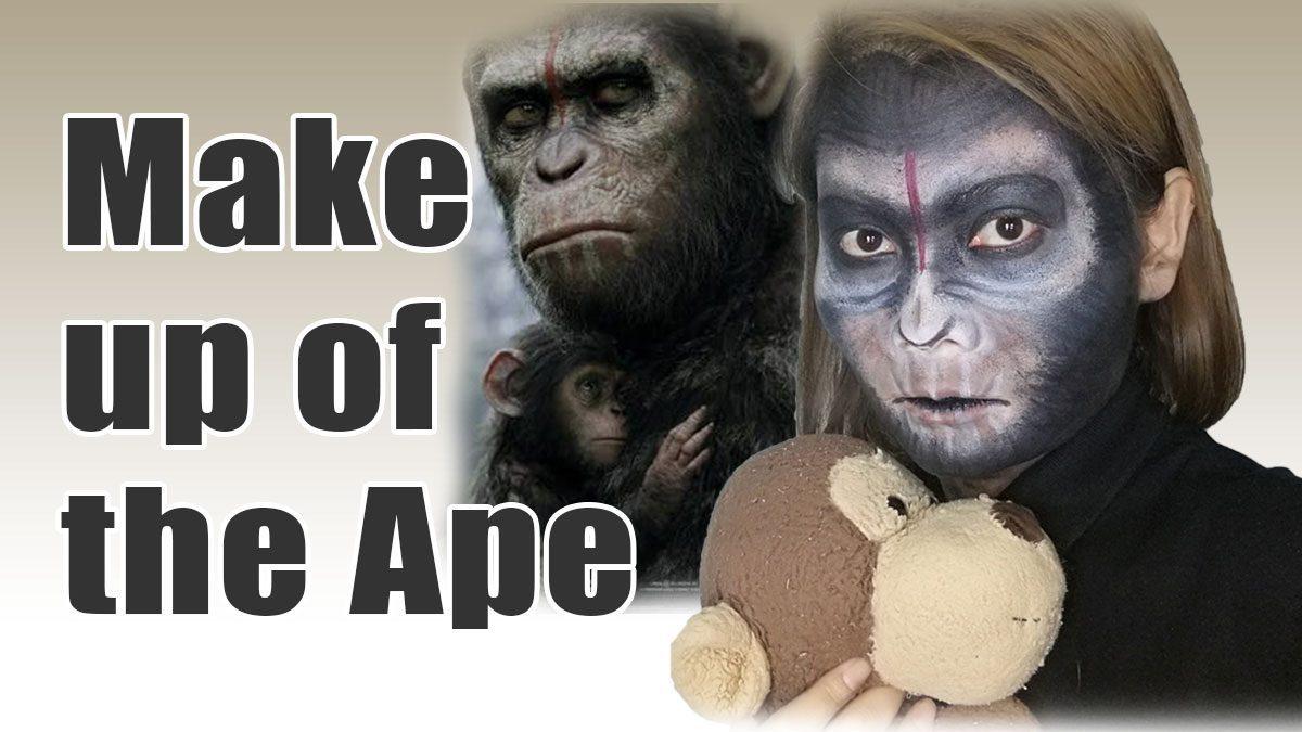 ลิง จั๊ก จั๊ก รักแต่งหน้าเลียนแบบ ซีซาร์ พิภพวานร